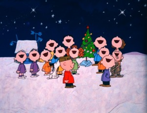 THE PEANUTS GANG REJOICES IN THE TRUE SPIRIT OF CHRISTMAS
