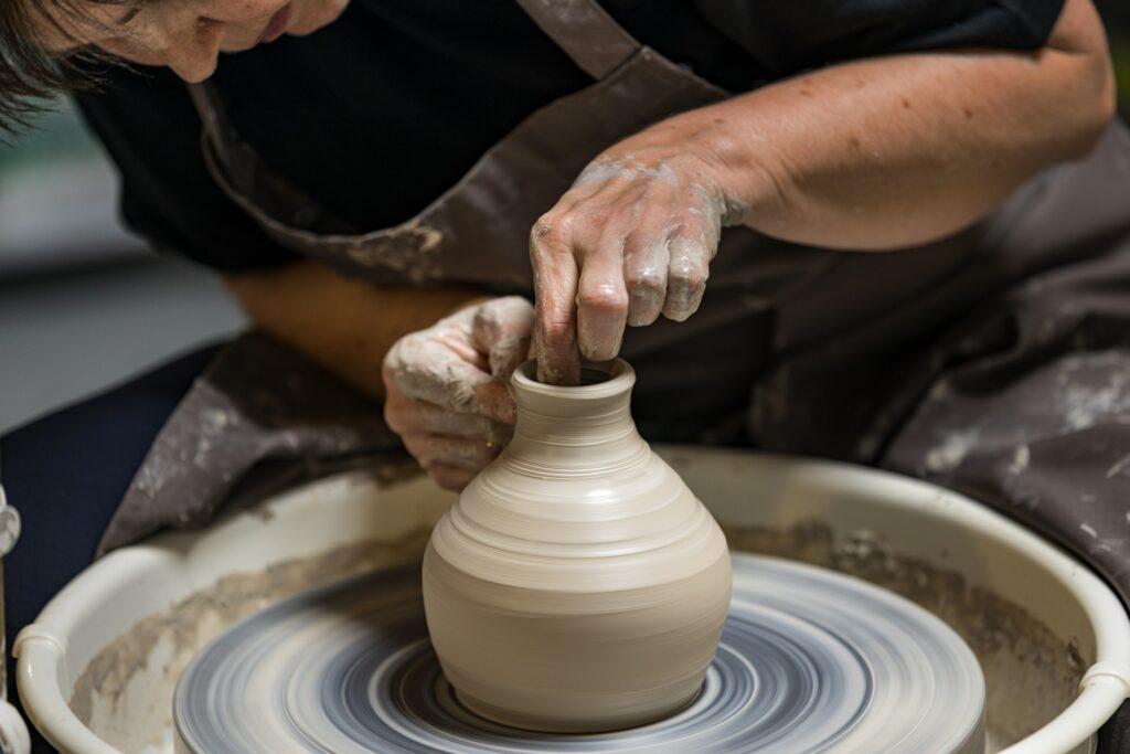 A potter at his wheel