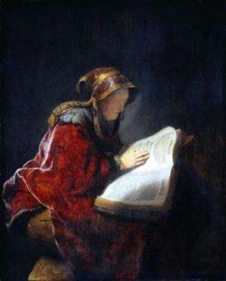 Hannah, Samuel's mother in prayer
