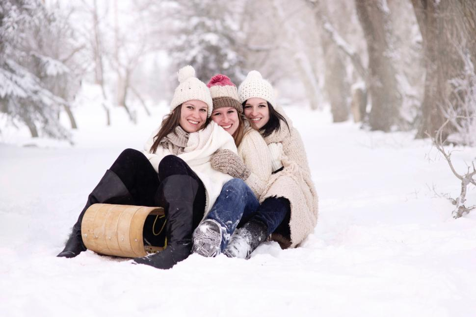 Group of women in snow