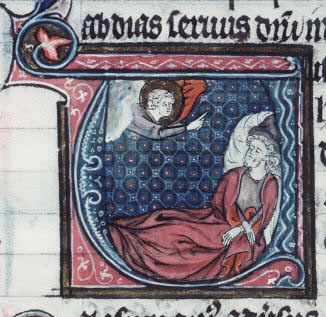 Drawing of Obadiah from a French manuscript