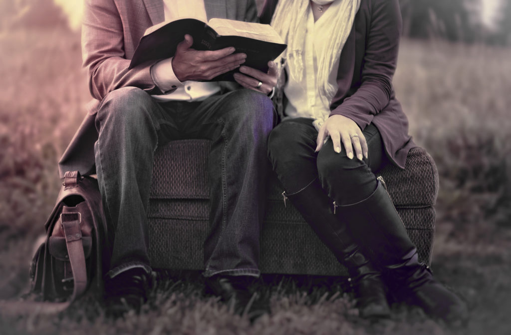 Couple reading the Bible