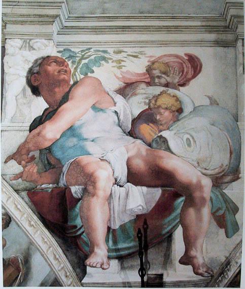 Prophet Jonah from the Sistine Chapel
