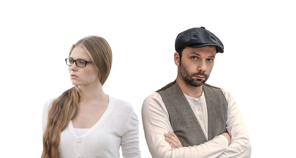 Disagreeing couple