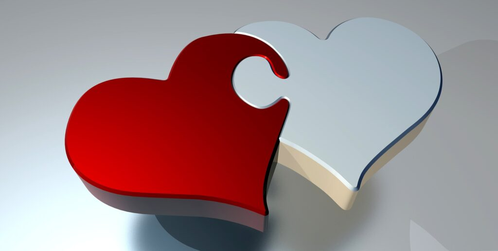 heart-shaped puzzle